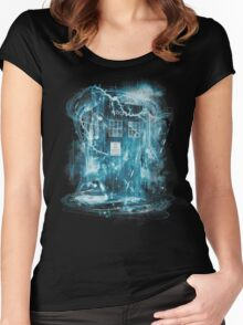 Time and space storm Women's Fitted Scoop T-Shirt