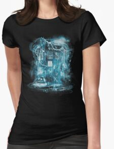 Time and space storm Womens Fitted T-Shirt