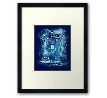Time and space storm Framed Print