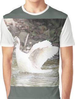 White Female Duck Graphic T-Shirt