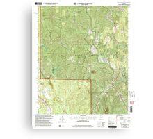 USGS TOPO Map Alabama AL Poplar Springs 304883 2000 24000 Canvas Print