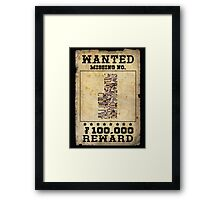 Missing no. Pokémon WANTED Framed Print