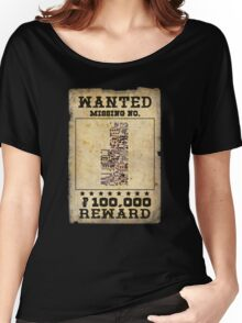 Missing no. Pokémon WANTED Women's Relaxed Fit T-Shirt