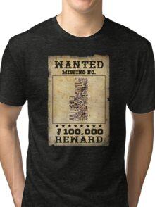 Missing no. Pokémon WANTED Tri-blend T-Shirt