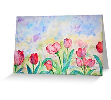 Spring Collection, Tulips print Greeting Card