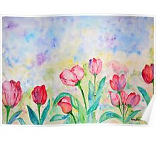 Spring Collection, Tulips print Poster