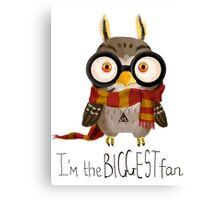 Small owlet - Biggest HP fan Canvas Print