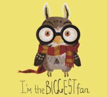 Small owlet - Biggest HP fan Kids Tee