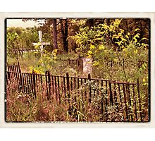""" 'THE CEMETERY', a Series, #10,  Hinds Valley Cemetery ""... prints and products Photographic Print"