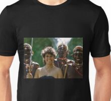 Kenya, Samburu Dancers and Happy Visitor Unisex T-Shirt