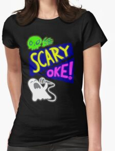 Scary Oke Womens Fitted T-Shirt