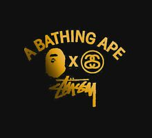 "STUSSY "" A BATHING APE "" Unisex T-Shirt"