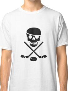 Ice Pirate Hockey Logo - Black on White Classic T-Shirt