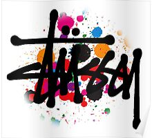 STUSSY BRUSH COLORS Poster