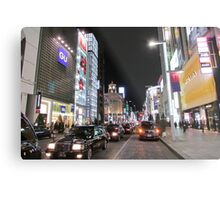 Ginza Streetscape, Chūō, Tokyo Metal Print