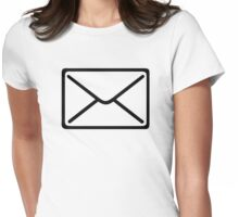 Mail symbol Womens Fitted T-Shirt