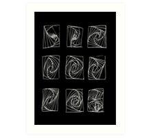 Sound dimensions_black Art Print