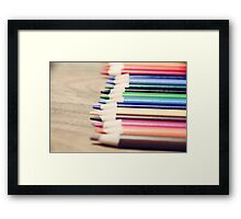 Colorful life Framed Print