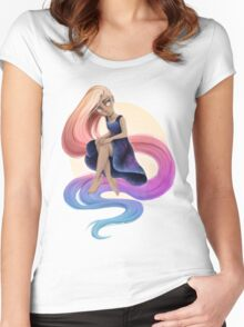 The Moon Girl Women's Fitted Scoop T-Shirt