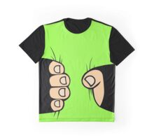 Giant Hand squeezing body Graphic T-Shirt