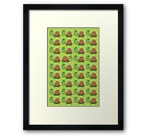 Just Be Yourself Cute Turtle Pattern Framed Print