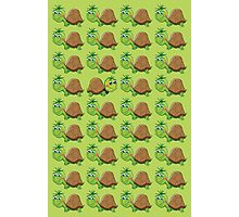 Just Be Yourself Cute Turtle Pattern Photographic Print