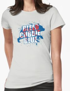 Bleed Cubbie Blue Womens Fitted T-Shirt