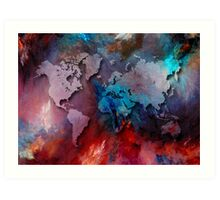 World map special 2 Art Print