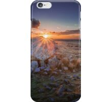 Sunset at Arthur's stone iPhone Case/Skin