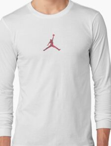 Jordan Red Camo Logo Long Sleeve T-Shirt