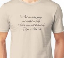 """And so, being young  and dipped in folly.  I fell in love with melancholy.""  - Edgar Allan Poe Unisex T-Shirt"