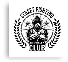 Street fight emblem Brooklyn Club black Canvas Print