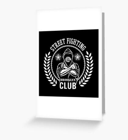 Street fight emblem Brooklyn Club white Greeting Card