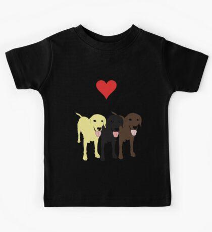 I love my Labrador. Kids Tee