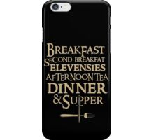 Funny Breakfast Quotes, Funny Gift iPhone Case/Skin