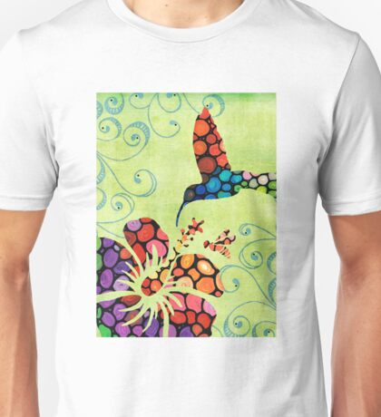 Nature's Harmony 2 - Hummingbird Art By Sharon Cummings Unisex T-Shirt