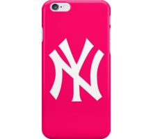 Pink NY Yankees  iPhone Case/Skin