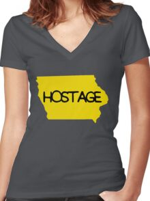 Hostage Women's Fitted V-Neck T-Shirt