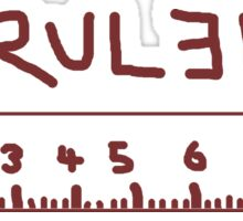 Ruler Sticker