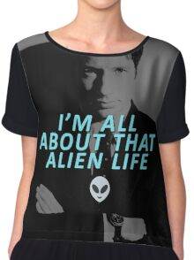 All About That Alien Life Chiffon Top