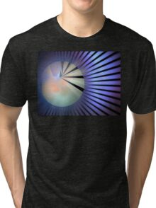 Lavender Blue Rays Tri-blend T-Shirt
