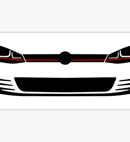 2015 MK7 headlights and grill Sticker