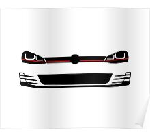 2015 MK7 headlights and grill Poster