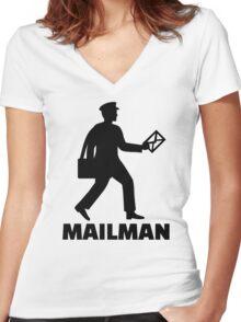 Mailman Women's Fitted V-Neck T-Shirt