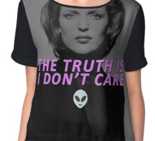 The Truth is I Don't Care Chiffon Top