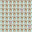Cute Cows and Pig Pattern by Silvia Neto