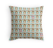 Cute Cows and Pig Pattern Throw Pillow