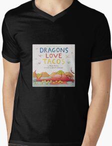 Dragons Love Tacos Mens V-Neck T-Shirt