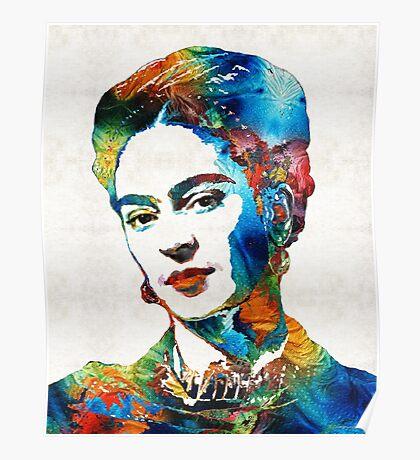 Frida Kahlo Art - Viva La Frida - By Sharon Cummings Poster