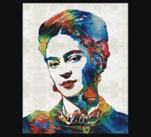 Frida Kahlo Art - Viva La Frida - By Sharon Cummings One Piece - Short Sleeve
